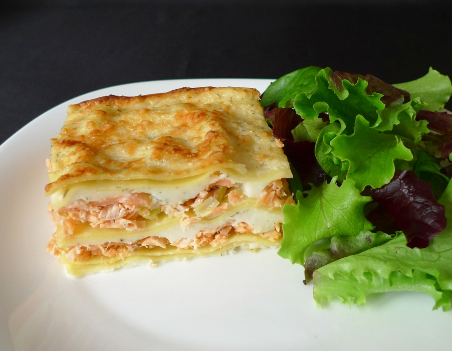 Lasagnes 2 saumons
