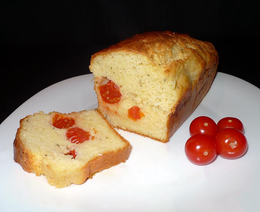 Cake Tomates Chevre Olive