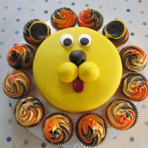 Lion-en-cupcakes