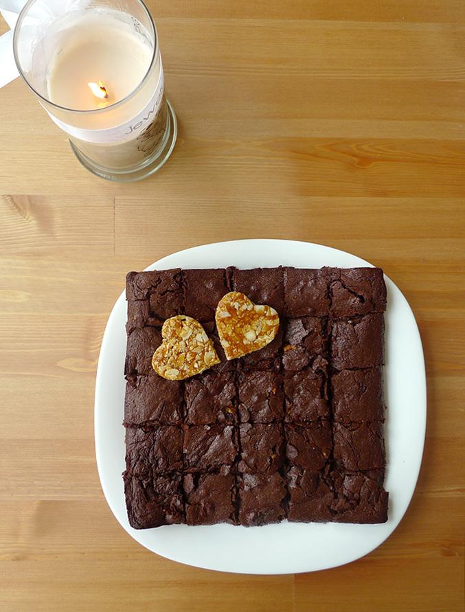 Brownie-nougatine