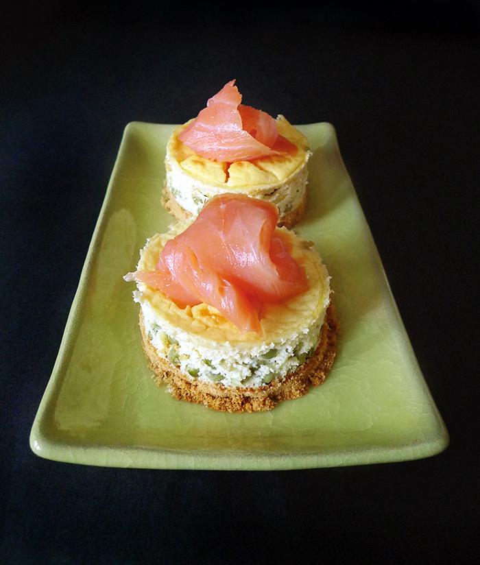Cheesecake petits pois saumon