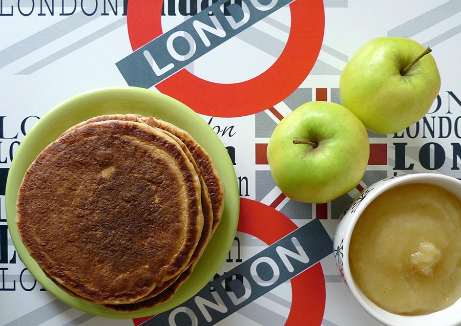 Pancakes-compote-de-pomme