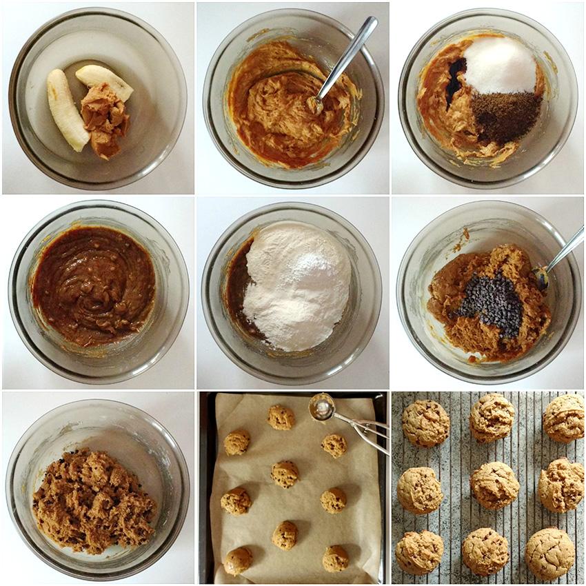 Etapes-cookies-beurre-cacahuete-banane-choco