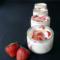 Panna cotta aux fraises et au miel